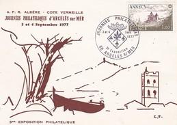 66---RARE-----Journées Philateliques D'argelès Sur Mer--3 Et 4 Septembre 1977--voir 2 Scans - Argeles Sur Mer