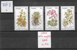 Fleur Médecine - Transkei N°88 à 91 1981 ** - Piante Medicinali