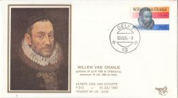 Nederland – FDC Trompet 169a – 400ste Sterfdag Willem Van Oranje – NVPH 1312/T169a Zijde - FDC