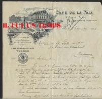 59 LILLE - CAFE DE LA PAIX - Mme LORDEZ Propriétaire - 5 Novembre 1903 - France