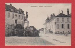 Seignelay  --Statue Et Route D Auxerre - Seignelay