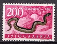 Yugoslavia MNG Stamp, High Value ( Without Gum) - Snakes