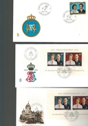 Luxembourg  3  FDC  Voir Scan - FDC
