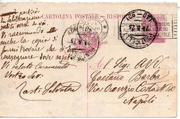 1923 Italia Italy Italie Ntero Mich C25 Risposta PONTICELLI Frazionario Uso Tardo Distretto Targhetta Cp Stationery Card - 1900-44 Vittorio Emanuele III