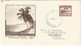 6Mm-898: N°122: APIA WESTERN SAMOA : Off. First Day Cover > Warrnambool Australia 1935 - Samoa