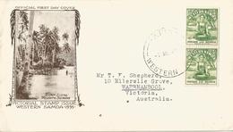 6Mm-897: N°122: In Paar: APIA WESTERN SAMOA : Off. First Day Cover > Warrnambool Australia 1935 - Samoa