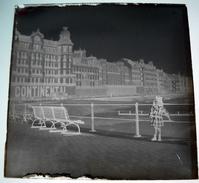 Ostende Belgique  - Hôtel Le Continental Et Le Splendid - Négatif Sur Plaque De Verre 6X6cm Env - Bien Lire Descriptif - Plaques De Verre