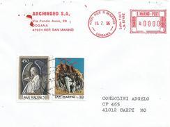 San Marino 1996 Dogona Meter Franking Unrecorded Angel Cover - San Marino