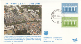 Nederland – FDC Trompet 167 – Europa-zegels 25 Jaar C.E.P.T. – NVPH 1307-1308/T167 - FDC