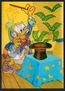 A1521 - Alte Glückwunschkarte - Donald Duck - 3 D Karte - Walt Disney - Comicfiguren