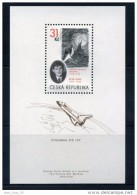 2005 Dessin Paysage Lunaire De Ginz (mort à Auschwitz) Emporté Par Astronaute Israélien Navette Columbia Désintégrée - Blocks & Sheetlets