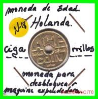 JETON PARA DESBLOQUEAR  MAQUINA EXPENDEDORA DE CIGARRILLOS - Monedas & Billetes