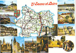 Saône Et Loire.Carte Du Département - Ohne Zuordnung