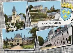 CPSM Dentelée - CHATEAUVIEUX (51) - Carte Multi-Vues Des Années 60 / 70 - France