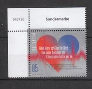 Schweiz   **  2486 Herzstiftung Neuausgabe 2.3.2017 Postpreis CHF 0,85 - Schweiz