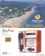 Telefonkarte Bulgarien - BulFon - Landschaft - Golden Sands - 400 Units - Aufl. 32000 - 06/02 - Bulgarien