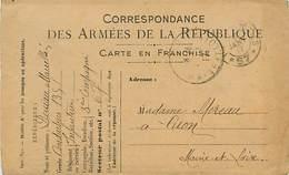 A-17-4597 :  CARTE FRANCHISE MILITAIRE - Marcophilie (Lettres)