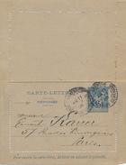 CHARENTON - 1906 , Carte-Lettre - Reponse - Nach Paris - Ganzsachen