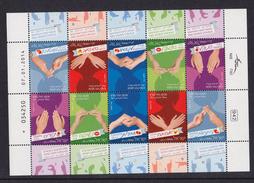 ISRAEL 2014 Israeli Sign Language - Sheetlet - Hojas Y Bloques