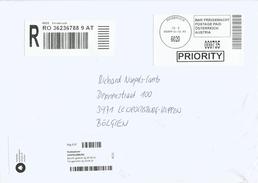Austria Osterreich 2016 Innsbruck Postage Paid Barcoded Registered Cover - Marcofilie - EMA (Print Machine)