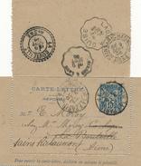 PARIS - 1906 , Carte-Lettre - Reponse - Ganzsachen