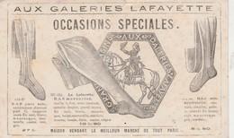 """Carte Commerciale Bas Pure Soie, Mercerisé, Soie Artificielle / Galeries Lafayette / """"Occasions Spéciales"""" / Paris - Cartes"""