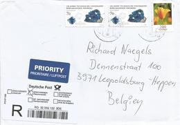 Germany 2016 Bunde Mineral Freiberg Eschscholzia Californica Poppy Flower Barcoded Registered Cover - Mineralen
