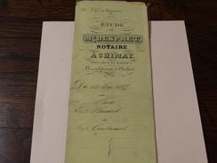 Acte Notarié 28 Mai 1875-Me Despret Notaire à Chimay -vente De Terrain à Baileux Par Bernard à Coulonval - Manuscrits