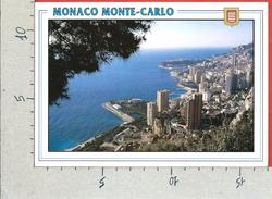 CARTOLINA VG MONACO - MONTE CARLO - Vista Sul Principato - 12 X 17 - ANN. 1992 - Monte-Carlo