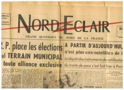 JOURNAL NORD ECLAIR  MARDI 16 SEPTEMBRE 1947 - Vieux Papiers