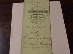 Acte Notarié 27 Mai 1880 ,Me Despret à Chimay Vente D'une Terre  Par Alphonse Camby à Alphonse Coulonval à Baileux - Manuscrits