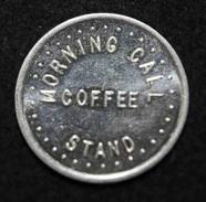 "Jeton 10 (pence)  Morning Call Coffee Stand"" Jeton De Café Angleterre - Professionnels / De Société"
