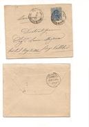 80 UMBERTO 25C AZZUTTO ISOLATO PALERMO RIGI-KALTBAD SVIZZERA 1901 - Storia Postale
