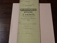 Acte Notarié 18 Mai 1860 ,Me Despret à Chimay Adjudication - Manuscrits