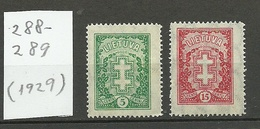 LITAUEN Lithuania 1929 Michel 288 - 289 * - Lithuania