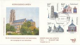 Nederland – FDC Trompet 176 – Zomerzegels -Kerken – NVPH 1324-1327/T176 - FDC