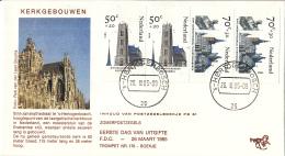 Nederland – FDC Trompet 176 A– Zomerzegels - Kerken – NVPH PB31-1328/T176a - FDC