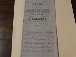 Acte Notarié 25 Fevrier 1841 ,Me Despret Notaire  à Chimay ,echange Entre Hardy Et Derzelle D'une Terre Située à Vaulx - Manuscrits