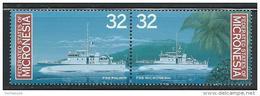 "Micronesia     ""Patrol Boats""      Set (pair)       SC# 243-44a  MNH** - Micronesia"