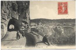 ALGERIE - CONSTANTINE - Tunnel Et Route De Philippeville - Constantine