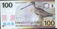 BOC (Bank Of China) Training Banknote, Netherlands 100   Banknote Specimen Overprint - Paesi Bassi