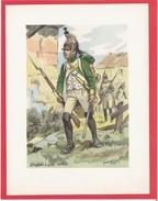 UNIFORME DRAGON DRAGONS A PIED 1805 ILLUSTRATION DE MAURICE TOUSSAINT EDITIONS MILITAIRES ILLUSTREES VIENNET 1947 - Uniform