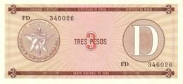 CUBA 3 PESOS 1985 P-FX33 UNC SERIES D [CUFX33] - Cuba