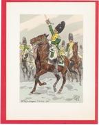 UNIFORME DRAGON 19e REGIMENT DE DRAGONS COMPAGNIE D ELITE 1808 ILLUSTRATION DE MAURICE TOUSSAINT 1947 EDITIONS VIENNET - Uniform