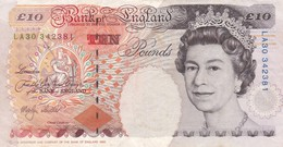 UK GREAT BRITAIN ENGLAND 10 POUNDS ND 1999 - 2000 P-386b VF - 1952-… : Elizabeth II