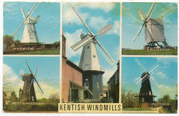 Kentish Windmills, 1975 Postcard - England