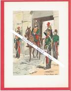 UNIFORME DRAGON 1e REGIMENT DRAGONS 1845 ILLUSTRATION DE MAURICE TOUSSAINT 1947 EDITIONS MILITAIRES ILLUSTREES VIENNET - Uniform