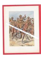 UNIFORME DRAGON TROMPETTE DE DRAGONS 1936 ILLUSTRATION DE MAURICE TOUSSAINT 1947 EDITIONS MILITAIRES ILLUSTREES VIENNET - Uniform