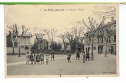 CPA-69-1912-LYON-LE POINT-du-JOUR-LA PLACE ET L'ECOLE-ANIMEE-DES ENFANTS-UNE PHARMACIE- - Lyon