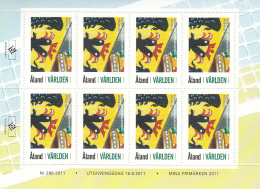 Aland 2012 Complete Set Of 13 Exhibition Stamps For Stamp Show Cities - Sheets - Aland